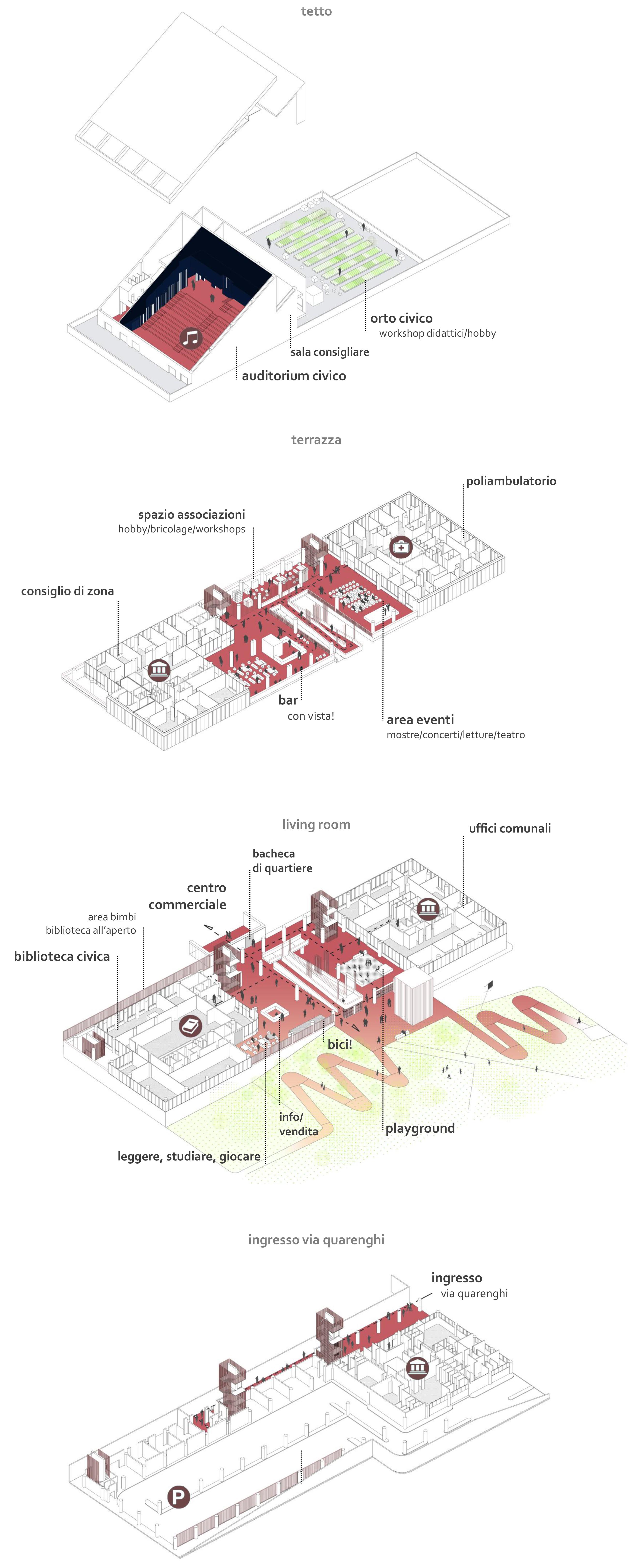 UP! Centro Civico Z8 Gallaratese Bonola Milano - Quarenghi21 - Visione